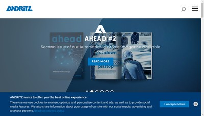 Site internet de Andritz Biax SAS