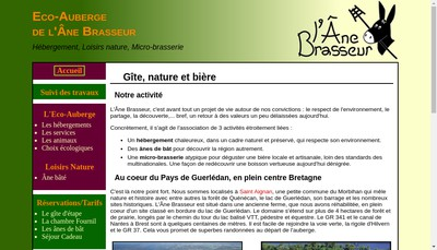 Site internet de L'Ane Brasseur