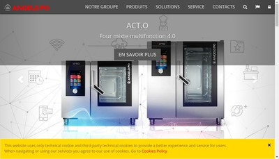 Site internet de Angelo Po France