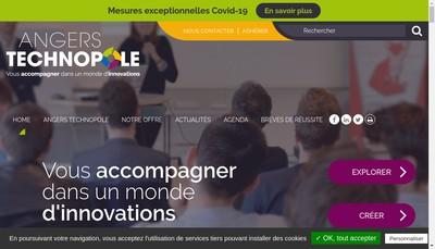 Site internet de Angers Technopole