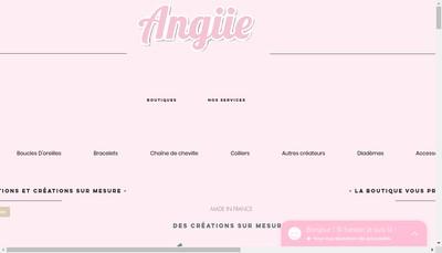 Site internet de Bijouterie Angiie