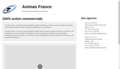 Site internet de Animas France