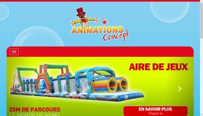 Site internet de Animations Concept