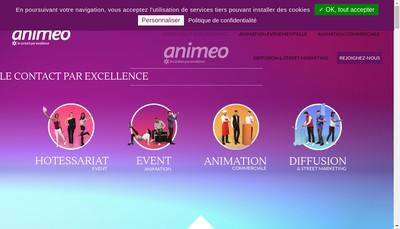 Site internet de Animeo