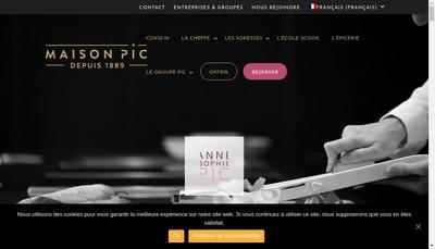 Site internet de Pic