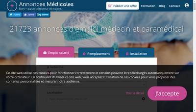 Site internet de Annonces Medicales