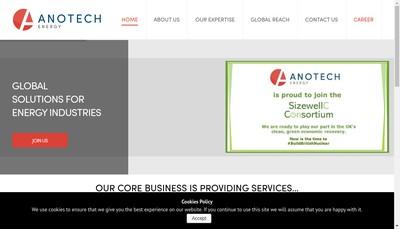 Site internet de Anotech Energy