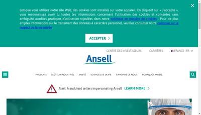 Site internet de Ansell SA
