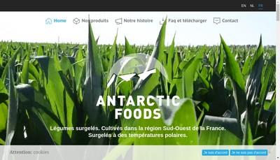 Site internet de Antarctic Foods Aquitaine