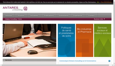 Site internet de Antares Consulting France