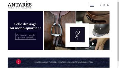 Site internet de Antares Sellier France