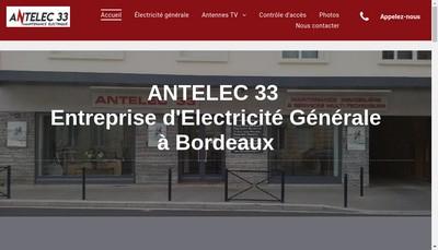 Site internet de Antelec 33