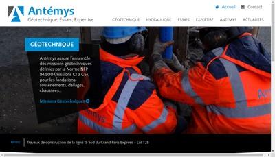 Site internet de Antemys