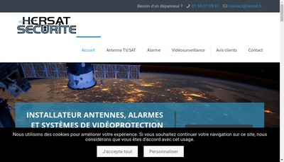 Site internet de Antennes Hersat Bertani