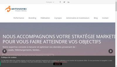 Site internet de Antevenio Publicite