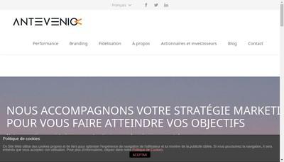Site internet de Antevenio France