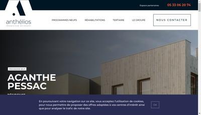Site internet de Anthelios Patrimoine