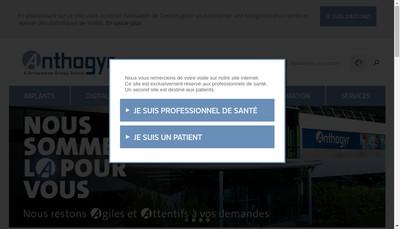 Site internet de Etablissements Anthogyr