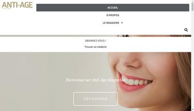 Site internet de Aag Publishing - Anti Age Magazine - Anit Age News - Esthetique Medicale - Medecine Esthetique