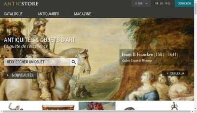 Site internet de Anticstore