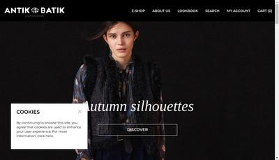 Site internet de Antik Batik