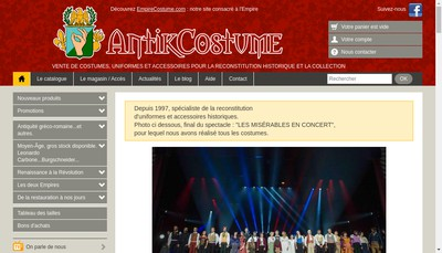 Site internet de Antikcostume