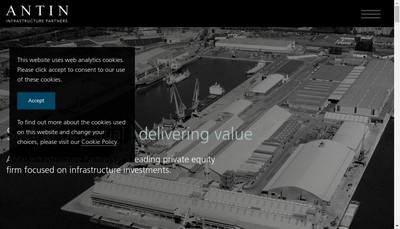 Site internet de Antin Infrastructure Partners