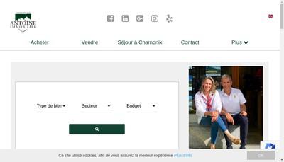 Site internet de Antoine Immobilier
