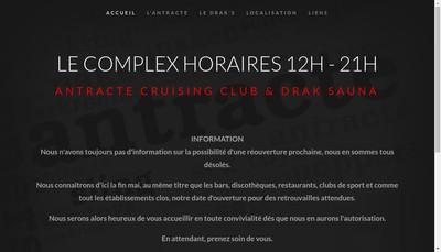 Site internet de Antracte