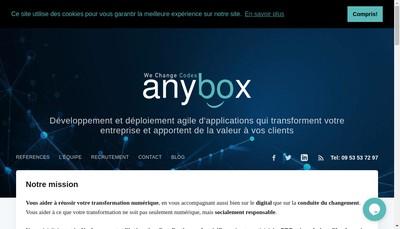 Site internet de Anybox