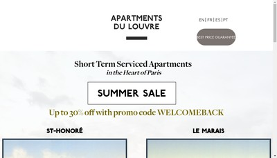 Site internet de Apartments du Louvre SARL