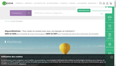 Site internet de Apave Parisienne SAS
