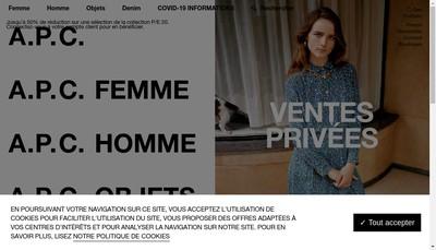 Site internet de Apc
