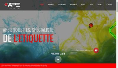 Site internet de Atelier Poitevin d'Etiquettes