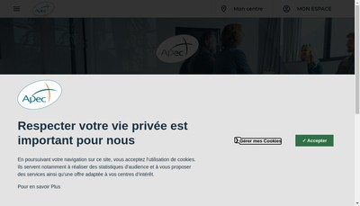 Site internet de Apec 14