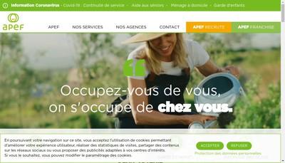 Site internet de Apef Agce Prof de l'Emploi Familial
