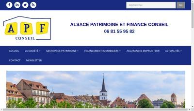 Site internet de Apf Conseil
