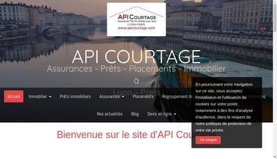 Site internet de Api Courtage, Assurances Pret Immobilier
