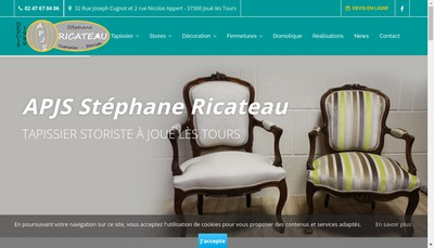 Site internet de APJS Stephane Ricateau