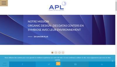 Site internet de Apl Data Center