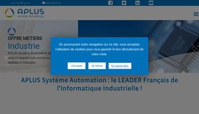 Site internet de Aplus Systeme Automation