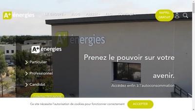 Site internet de A Plus Energies