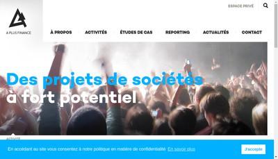 Site internet de A Plus Finance