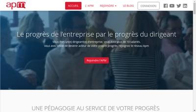 Site internet de APM