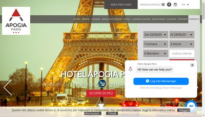 Site internet de Hotel Apogia Paris