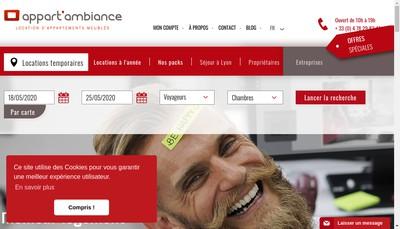 Site internet de Appart'Ambiance