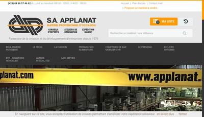 Site internet de Exploitation des Etablissements Applanat