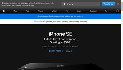 Site internet de Apple Retail France EURL