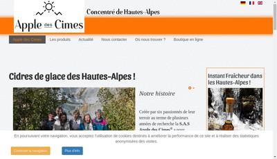 Site internet de Apple des Cimes