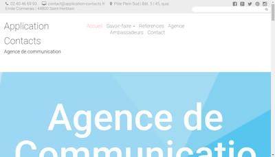 Site internet de Application Contacts